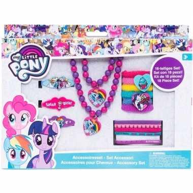 18x my little pony haaraccessoires/sieraden set voor meisjes