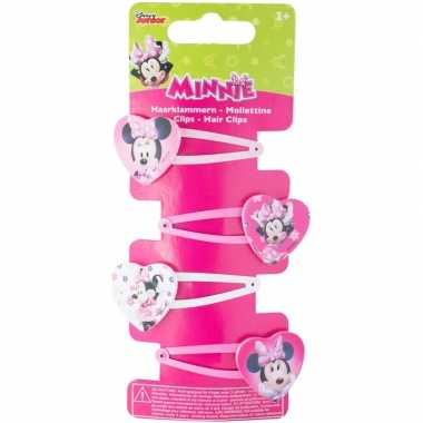 4x disney minnie mouse haarclips voor meisjes