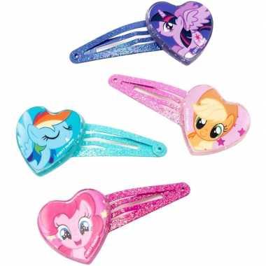 4x my little pony haarclips voor meisjes
