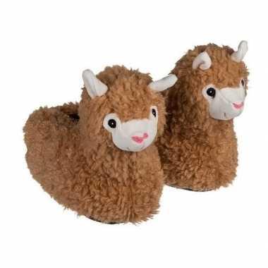 Alpaca/lama pantoffels voor meisjes maat 31/32
