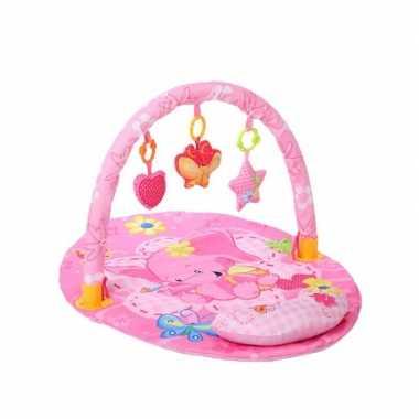 Baby speelkleed/babygym roze met kussentje voor meisjes