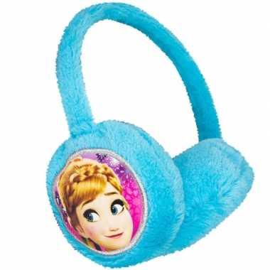 Blauwe frozen oorwarmers voor meisjes