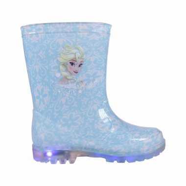 Blauwe frozen regenlaarzen voor meisjes