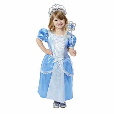 Blauwe prinsessenjurk met accessoires voor meisjes