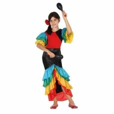Braziliaanse samba rumba danseres verkleed kostuumvoor meisjes