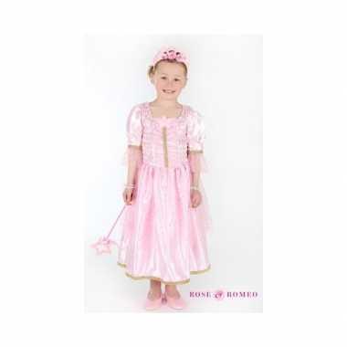Carnaval verkleedkleding prinses lichtroze meisjes
