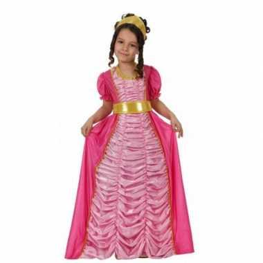 Carnavalskleding prinses roze voor meisjes