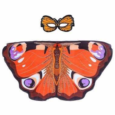 Dagpauwoog vlinder verkleedset voor meisjes