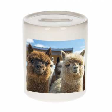 Dieren foto spaarpot alpaca 9 cm alpacas spaarpotten en meisjes