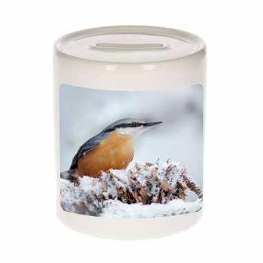 Dieren foto spaarpot boomklever vogel 9 cm vogels spaarpotten en meisjes