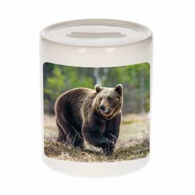 Dieren foto spaarpot bruine beer 9 cm beren spaarpotten en meisjes
