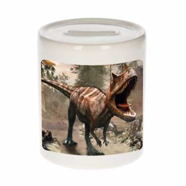 Dieren foto spaarpot carnotaurus dinosaurus 9 cm dinosaurussen spaarpotten en meisjes