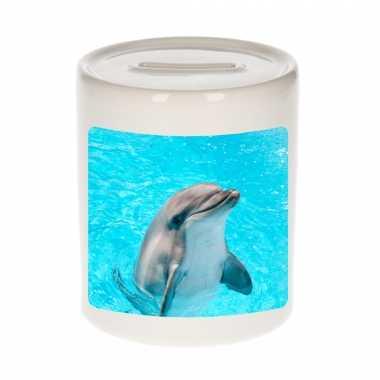 Dieren foto spaarpot dolfijn 9 cm dolfijnen spaarpotten en meisjes