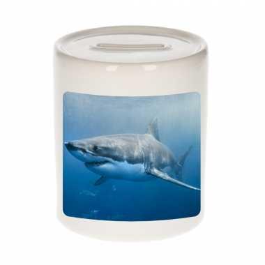 Dieren foto spaarpot haai 9 cm haaien spaarpotten en meisjes