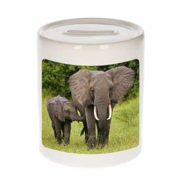 Dieren foto spaarpot olifant 9 cm olifanten spaarpotten en meisjes