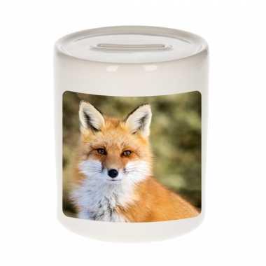 Dieren foto spaarpot vos 9 cm vossen spaarpotten en meisjes