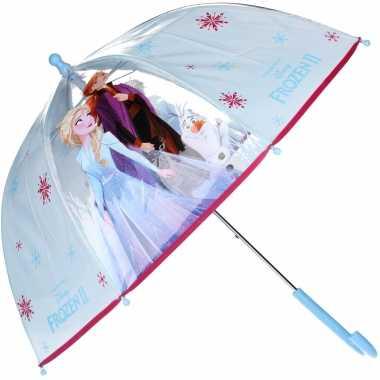 Disney frozen 2 kinderparaplu transparant voor meisjes 61 cm