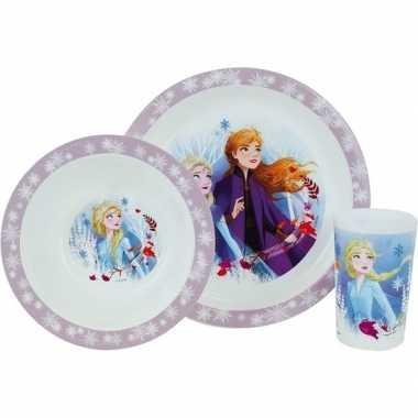 Disney frozen 2 ontbijtset bord/diep bord/beker voor meisjes