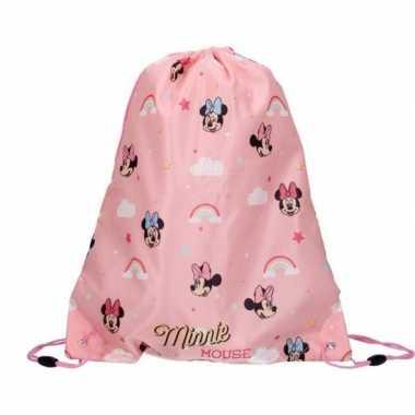 Disney minnie mouse roze gymtas/rugtas 37 x 44 cm voor meisjes