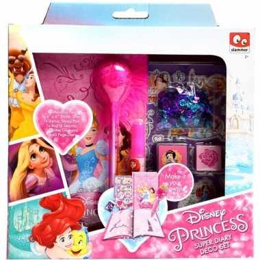 Disney princess maak je eigen dagboek set voor meisjes