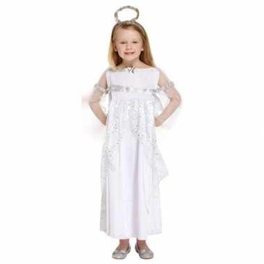 Engel kerst kostuum verkleedkleding wit voor meisjes