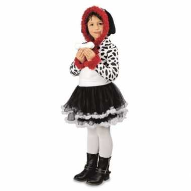 Feest dalmatier hond verkleedoutfit voor meisjes