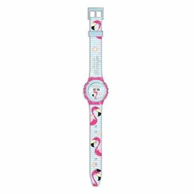 Flamingo digitaal horloge voor meisjes