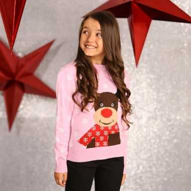 Foute rendier print trui voor meisjes