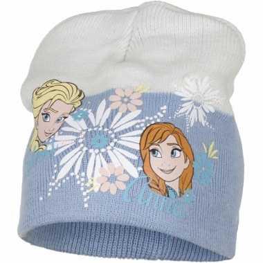 Frozen muts elsa en anna blauw voor meisjes