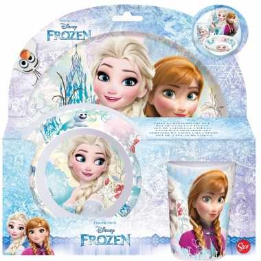 Frozen ontbijtsetje 3-delig voor meisjes