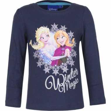 Frozen shirt blauw voor meisjes