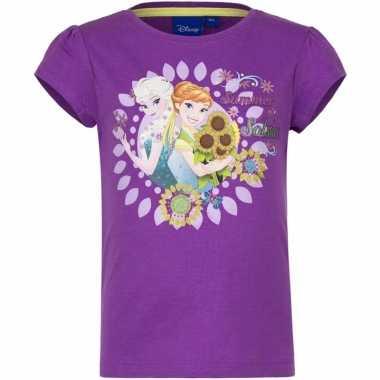 Frozen shirt paars voor meisjes