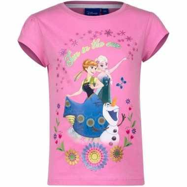 Frozen shirt roze voor meisjes