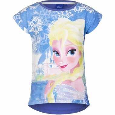 Frozen t shirt blauw voor meisjes