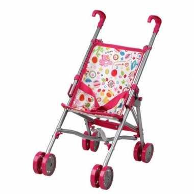Fuchsia roze poppenwagen speelgoed voor meisjes
