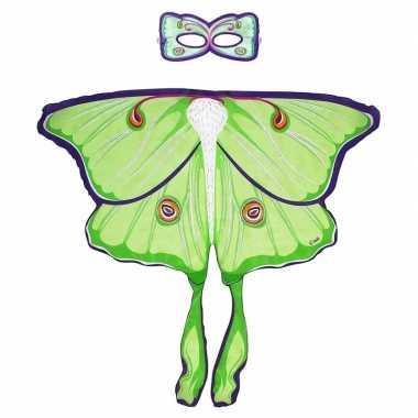 Groene maanvlinder verkleedset voor meisjes