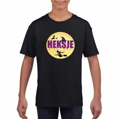 Halloween heksje t shirt zwart meisjes