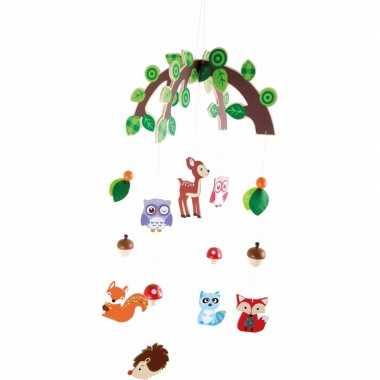 Hangdecoratie mobiel bosdieren voor meisjes