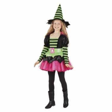 Heksen pakje groen/roze voor meisjes