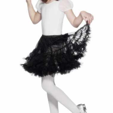 Heksen verkleedaccessoire tutu rok zwart voor meisjes