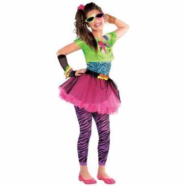Jaren 80 disco kostuum feestkleding voor meisjes 10 12 jaar