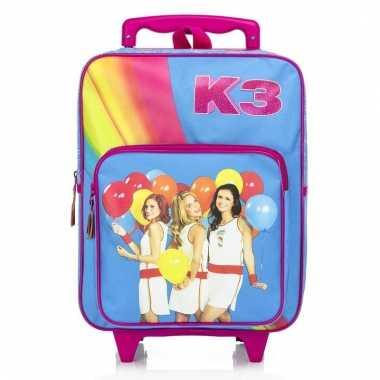 K3 koffer/trolley roze voor meisjes