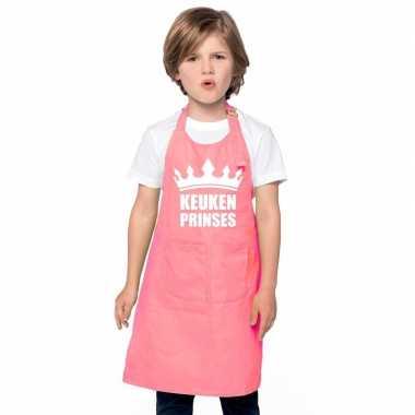 Keukenprinses keukenschort roze meisjes