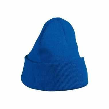 Kobaltblauwe basic skimutsen voor meisjes