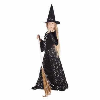 Lange zwarte heksenjurk kid midnight voor meisjes