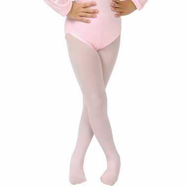 Lichtroze verkleed panty/maillot voor meisjes/kinderen
