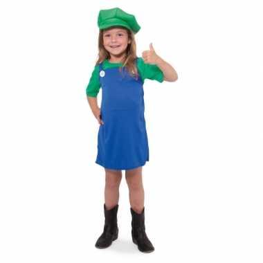 Luigi meisjes verkleedkleding