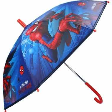 Marvel spiderman kinderparaplu voor /meisjes 71 cm