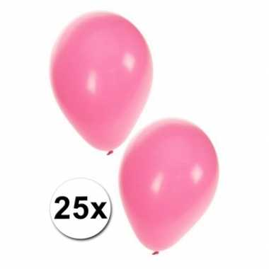 Meisjes 25x fel roze ballonnen