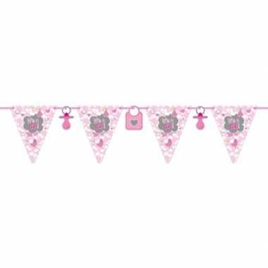 Meisjes 2x babyshower slingers geboorte meisje 6 meter
